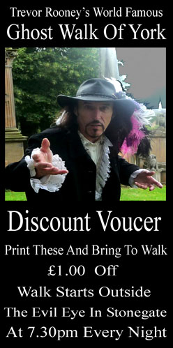 Trevor Rooney's Ghost Walk of York Discount Voucher
